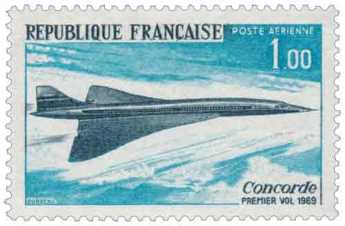 Timbre : Concorde PREMIER VOL 1969