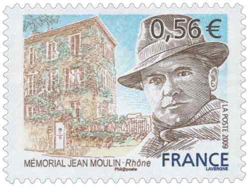 Timbre : MÉMORIAL JEAN MOULIN - Rhône