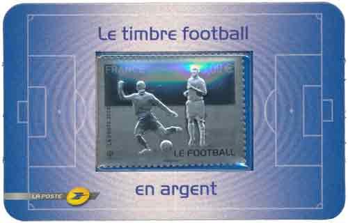 Timbre : LE FOOTBALL en argent 999 millièmes