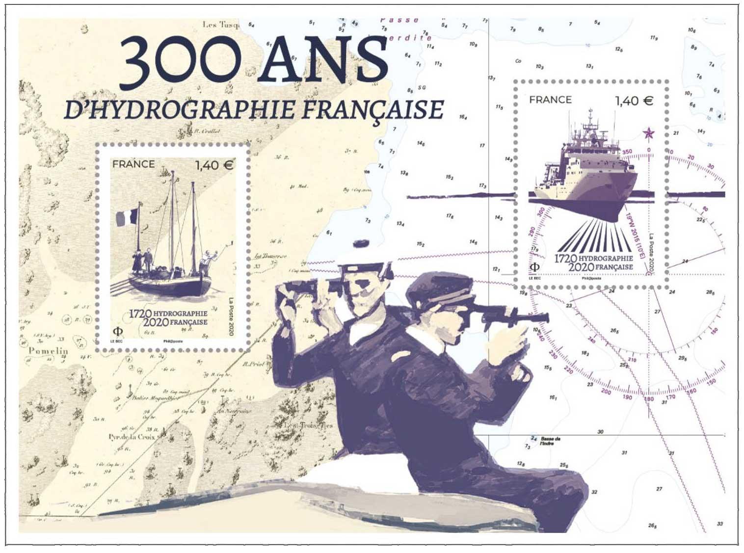 Bloc : 300 ANS D'HYDROGRAPHIE FRANCAISE