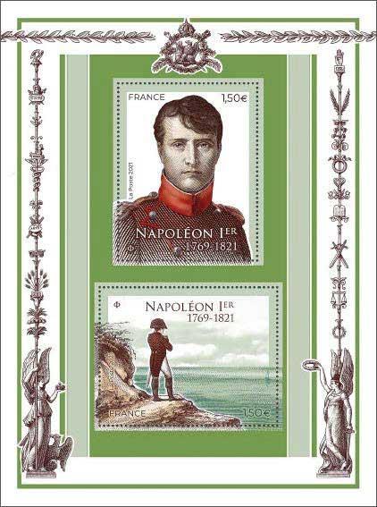 Timbre : 2021 Napoléon 1er 1769-1821