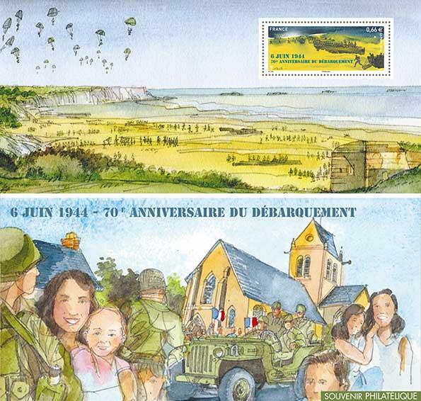 Souvenir philatélique : 70e anniversaire du débarquement