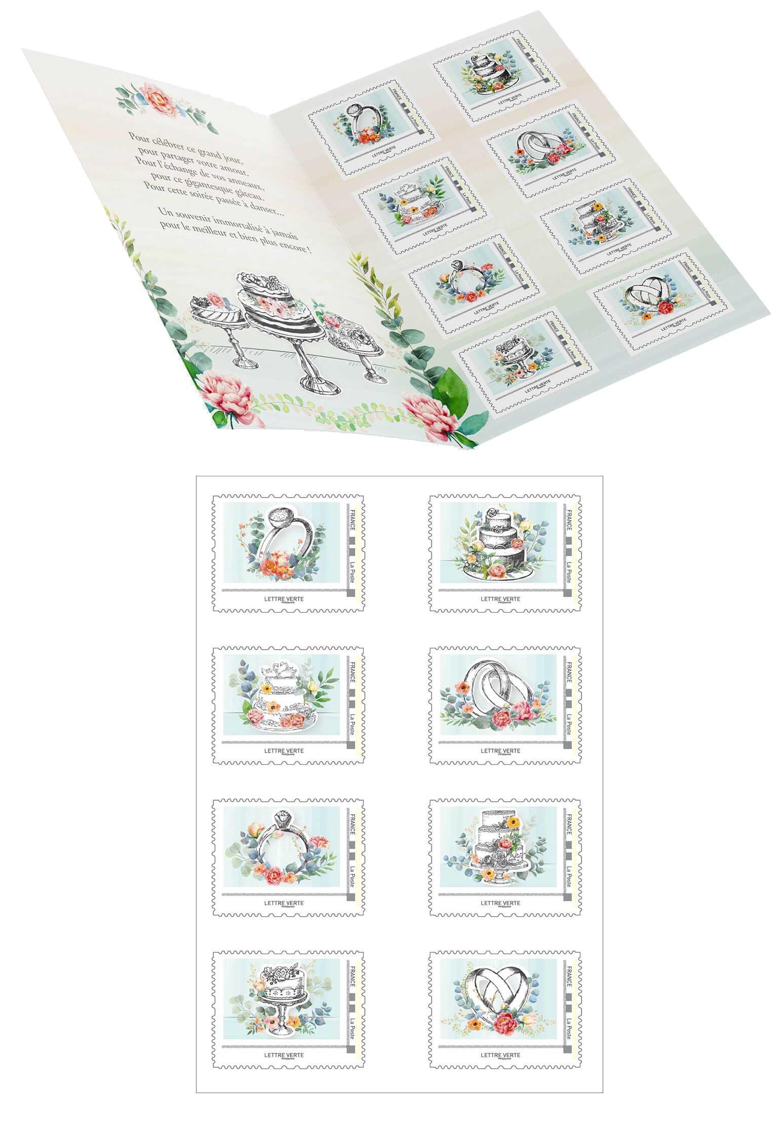 Collector : 8 timbres - Mariage - Vive Les Mariés