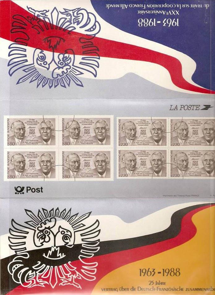 Pochette  : 1988 émission commune France - Allemagne