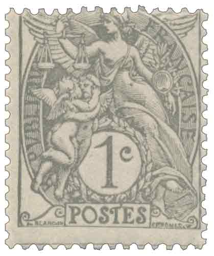 Timbre : type Blanc 1900