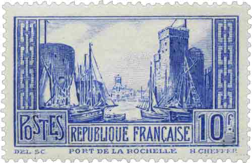 Timbre : PORT DE LA ROCHELLE Type I