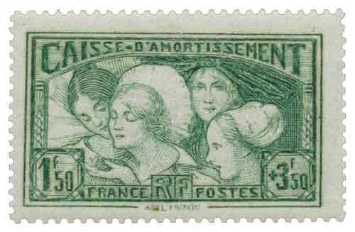 Timbre: Les coiffes des provinces françaises (arlésienne, boulonnaise, alsacienne, bretonne)