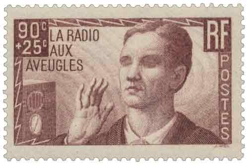 Timbre : Au profit de l'œuvre La radio aux aveugles
