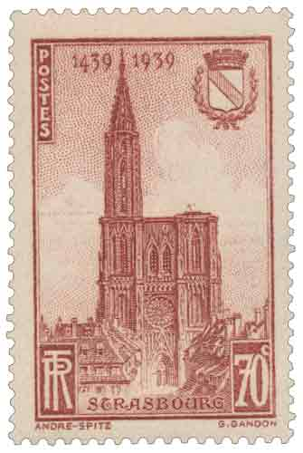 Timbre : STRASBOURG 1439-1939