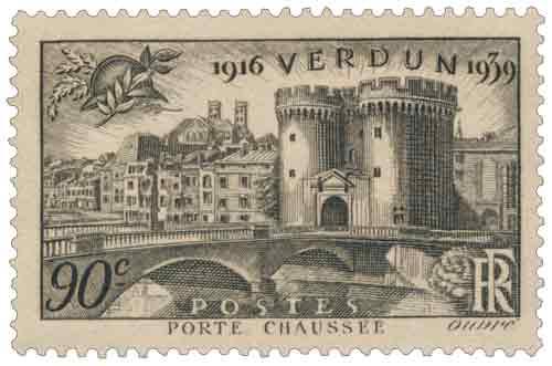Timbre : 1916-1939 VERDUN PORTE CHAUSSÉE