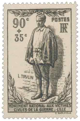 Timbre : LEON TRULIN MONUMENT NATIONAL AUX VICTIMES CIVILES DE LA GUERRE - LILLE