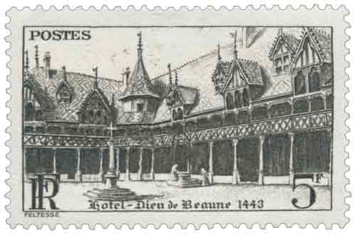 Timbre : Hôtel-Dieu de Beaune 1443