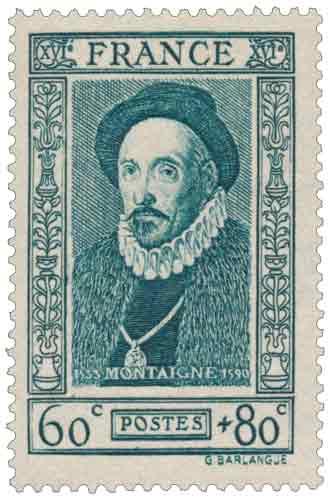 Timbre : Michel Eyquem de Montaigne (1533-1592)