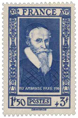 Timbre : Ambroise Paré (1510-1590)