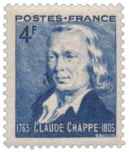 Timbre : CLAUDE CHAPPE 1763-1805