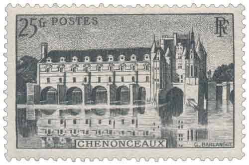 Timbre : Château de Chenonceau (25 fr)