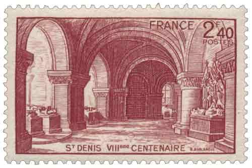 Timbre : ST DENIS VIIème CENTENAIRE