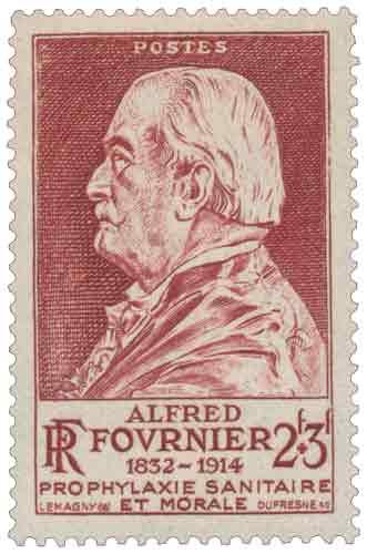 Timbre : ALFRED FOURNIER 1832-1914 PROPHYLAXIE SANITAIRE ET MORALE