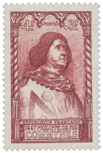 Timbre : PHILIPPE DE COMMYNES 1447-1511