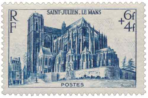 Timbre :  Cathédrale Saint-Julien du Mans