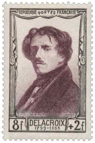 Timbre : Eugène Delacroix (1798-1863)