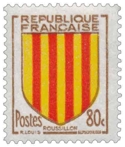 Timbre Armoiries de provinces : Roussillon