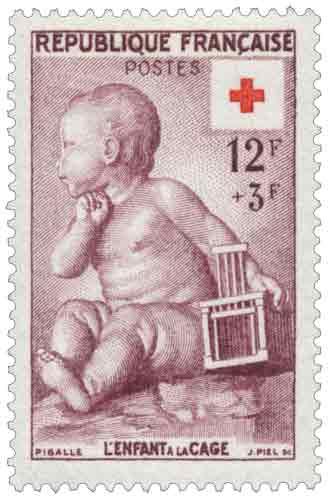 Timbre: PIGALLE L'ENFANT A LA CAGE
