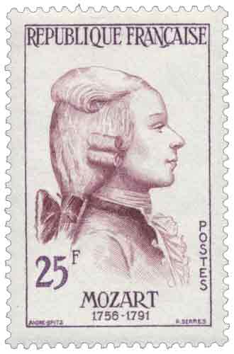 Timbre : MOZART 1756-1791
