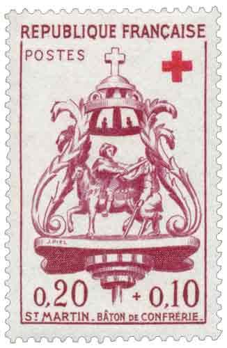 Timbre : St MARTIN - BÂTON DE CONFRÉRIE