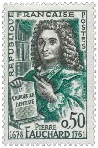 Timbre : PIERRE FAUCHARD 1678-1761 LE CHIRURGIEN DENTISTE