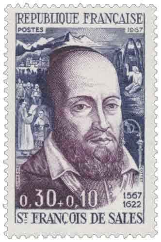 Timbre : ST FRANÇOIS DE SALES 1567-1622
