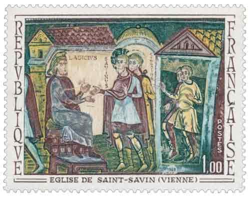 Timbre :  ÉGLISE DE SAINT-SAVIN (VIENNE)