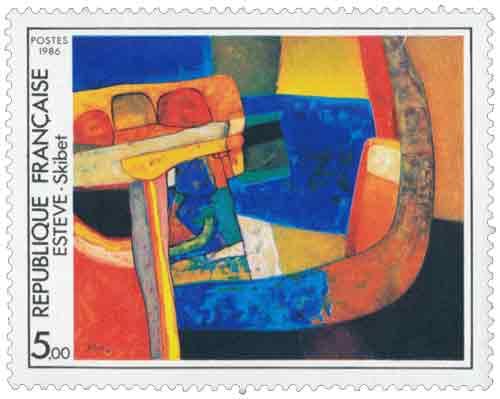 Timbre : Skibet œuvre de Maurice Estève (1904-2001)