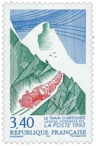 Timbre : LE TRAIN D'ARTOUSTE LARUNS-PYRÉNÉES ATL