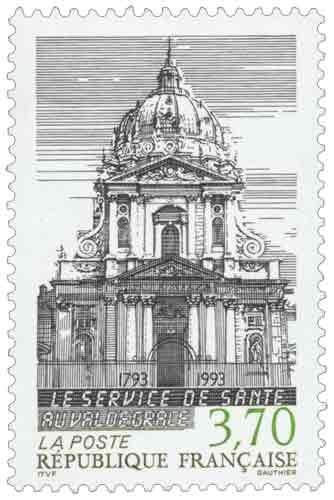 Timbre : LE SERVICE DE SANTÉ AU VAL DE GRACE 1793-1993