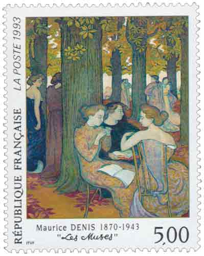Timbre : Maurice DENIS 1870-1943 Les Muses