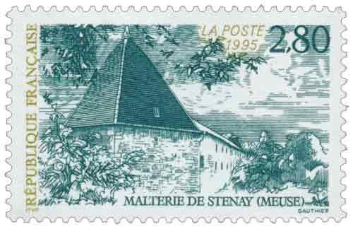 Timbre : MALTERIE DE STENAY (MEUSE)