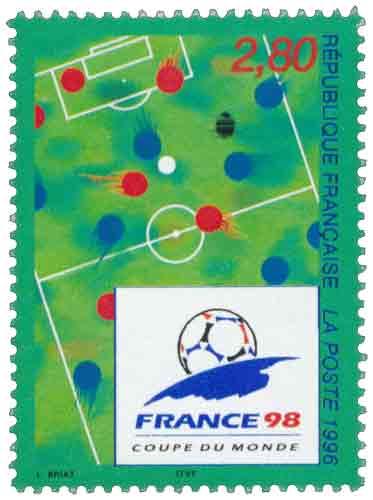 Timbre : FRANCE 98 COUPE DU MONDE