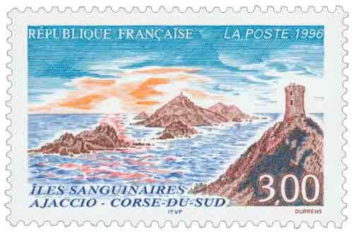 Timbre : ÎLES SANGUINAIRES AJACCIO - CORSE-DU-SUD