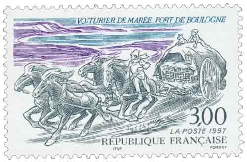 Timbre : VOITURIER DE MARÉE - PORT DE BOULOGNE