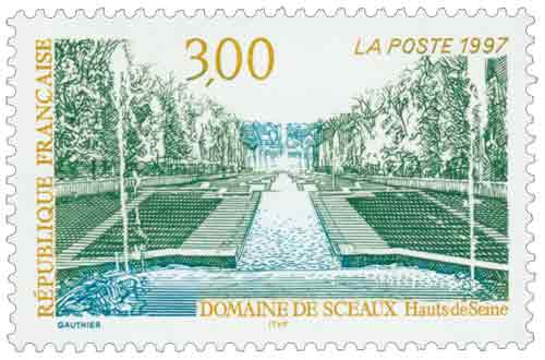 Timbre : DOMAINE DE SCEAUX Hauts de Seine