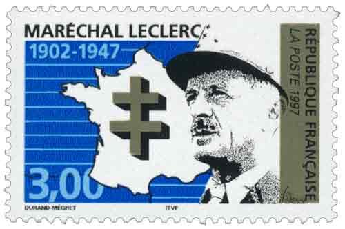 Timbre: MARÉCHAL LECLERC 1902-1947