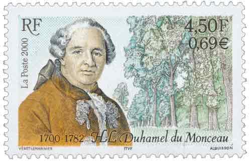 Timbre : Duhamel du Monceau 1700-1782