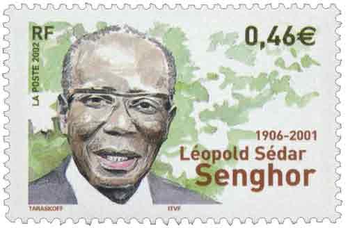 Timbre: Léopold Sédar Senghor 1906-2001