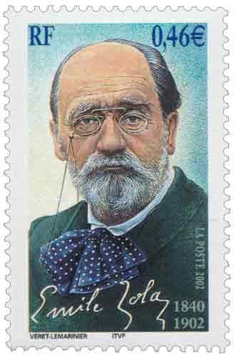 Timbre: Émile Zola 1840-1902