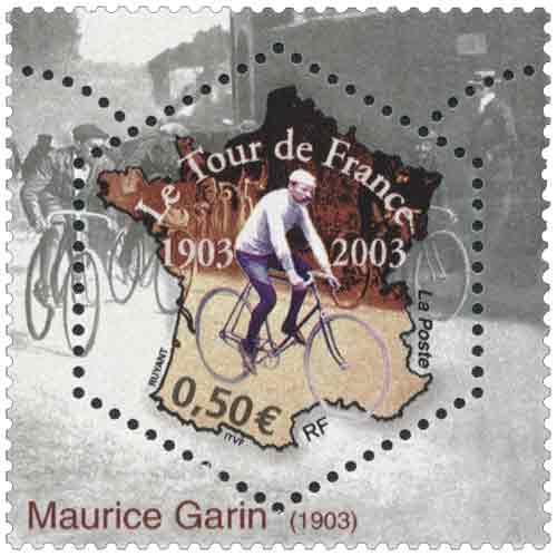 Timbre : Le Tour de France 1903-2003 Maurice Garin 1903