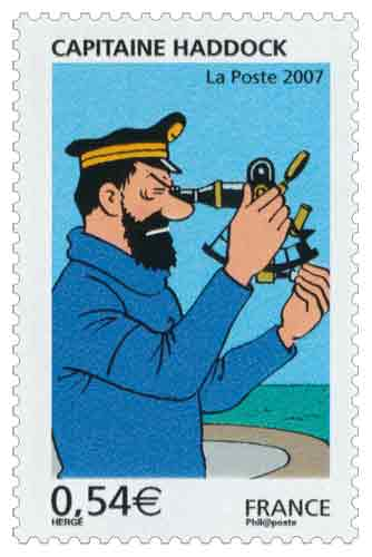 Timbre : 2007 CAPITAINE HADDOCK