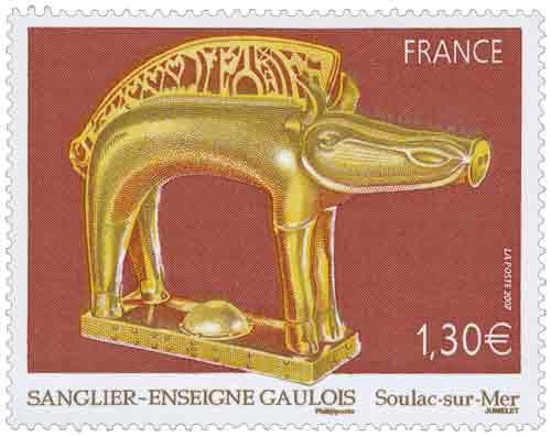 Timbre : 2007 SANGLIER –ENSEIGNE GAULOIS Soulac-sur-Mer