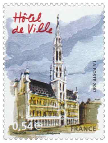 Timbre : Hôtel de Ville de Bruxelles