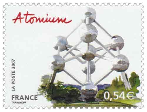 Timbre :  Atomium Bruxelles